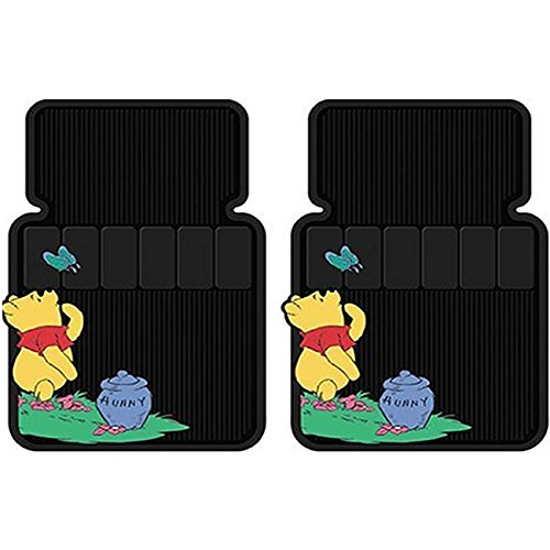 Front Rubber Floor Mats - Disney Winnie the Pooh Honey Hunny Pot (Pooh Car Mats compare prices)