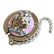 Small Goby Purple Pink Frog Prince Foldable Purse Hanger Bag Hook FREE Gift Box