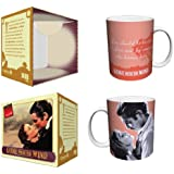 Gone with the Wind Be Kissed Quote Classic Hollywood Movie Film Ceramic Boxed Gift Coffee (Tea, Cocoa) 11 Oz. Mug