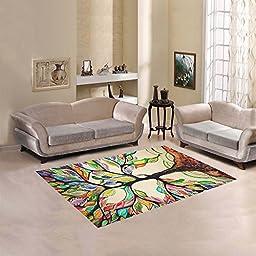 JC-Dress Area Rug Tree Of Life Modern Carpet 5\'3\
