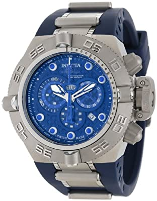 Invicta Men's 1389 Subaqua Noma IV Chronograph Dark Blue Dial Dark Blue Polyurethane Watch