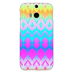 Jugaaduu Psychdelic Triangles Pattern Back Cover Case For HTC One M8