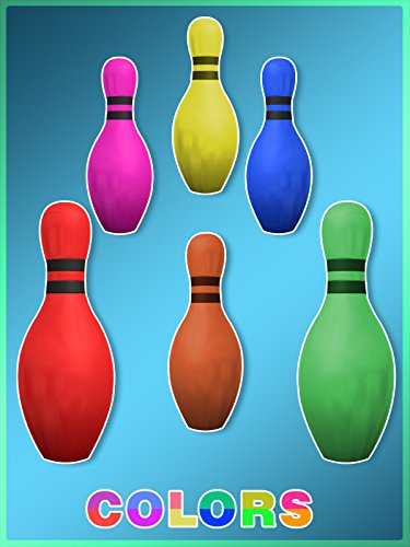 Colors for Children to Learn with Colors 3D Bowling