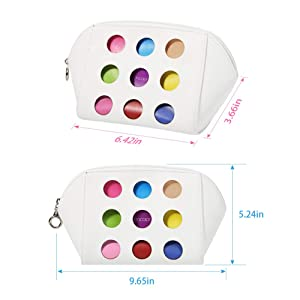 Makeup Brushes Bag Cases Travel Colorful by Docolor Toiletry Cosmetic Display Portable Organizer Multifunction Case