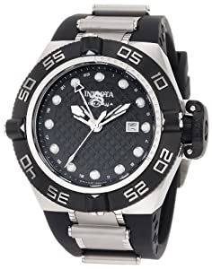 Invicta Men's 1153 Subaqua Noma IV GMT Black Dial Polyurethane Watch