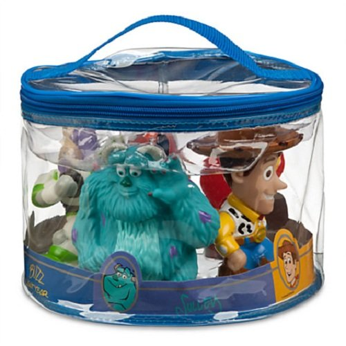 Disney Toy Story Woody, Buzz Lightyear, Monster Inc Sully, Dash, Nemo, the Incredible, Bath Pool Squeak Toys - 1