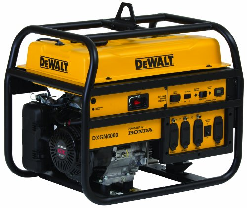 Dewalt Dxgn6000 6000 Watt Commercial Generator With Recoil Start