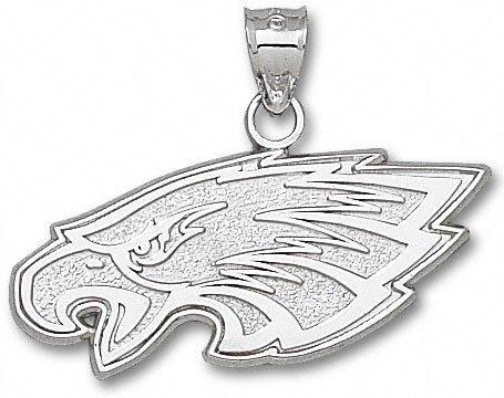 Philadelphia Eagles 5/8' Sterling Silver Eagle Head Pendant