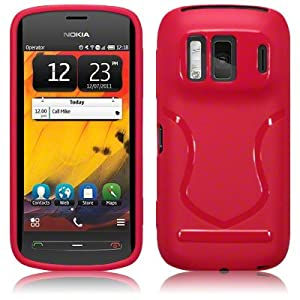 Nokia 808 Pureview TPU Gel Skin Case / Cover - Solid Red Part Of The Qubits Accessories Range