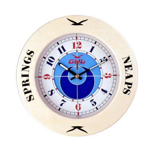 GUL CTD Clock, Tide Clock, White Dial