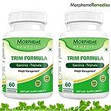 Morpheme Trim Formula Capsules For Weight Loss - 500mg Extract - 60 Veg Capsules - 2 Combo Pack