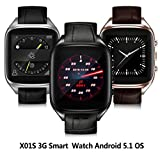 Ourtime-X01S-Wireless-Smart-Watch-Android-51-with-Camera-Heart-Rate-Monitor-Support-T-Mobile-WCDMA-SIM-Card-Rose-Gold-and-Brown