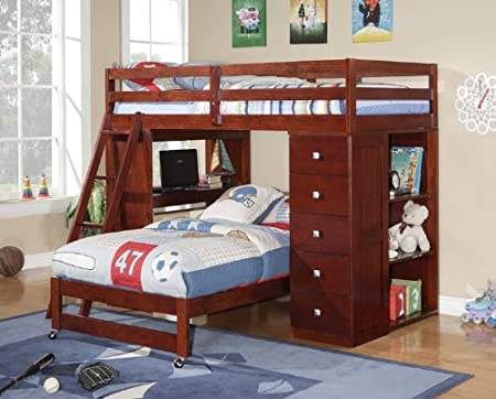 bunk bed with desk underneath. Black Bedroom Furniture Sets. Home Design Ideas