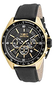 Invicta Men's 15908 S1 Rally Quartz Chronograph Black Dial Watch