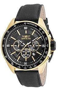 Invicta Men's 15908 S1 Rally Quartz Chronograph Black Dial Watch