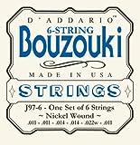 D\'Addario Cordes en nickel pour bouzouki grec 6 cordes D\'Addario J97-6