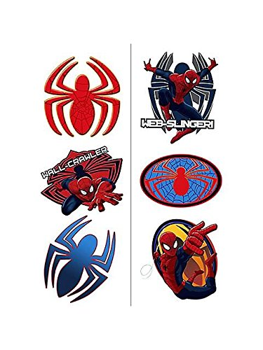 SpiderMan Spider Hero Dream Party Tattoos - 2/Sheets - 1