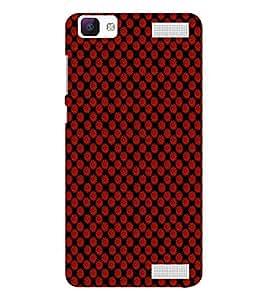 EPICCASE reddish flower Mobile Back Case Cover For Vivo V1 Max (Designer Case)
