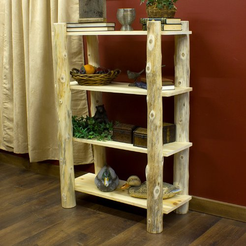 Amazon Com Cedar Lake Open Log Bookshelf Bookcases