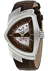 Hamilton Ventura Brown Skeleton Dial SS Leather Automatic Men's Watch H24515591