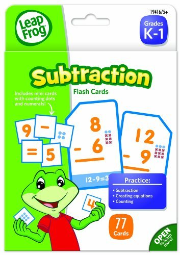 The Board Dudes LeapFrog 19416 LeapFrog Flash Cards, Subtraction, 4 3/4 x 6, 80 Cards  (BDU19416)