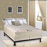 Continental Sleep Mattress, 9-Inch Gentle Firm Pillowtop Fully Assembled Othopedic King Mattress and 5-Inch Box Spring,Elite Collection