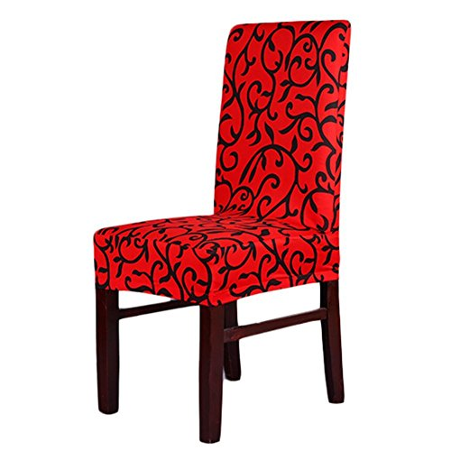 stretch short dining room chair covers printed pattern banquet chair