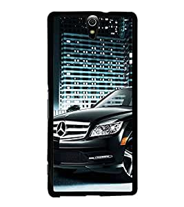 Fuson Premium 2D Back Case Cover Stylish Black car With Multi Background Degined For Sony Xperia C5 Ultra Dual::Sony Xperia C5 E5553 E5506::Sony Xperia C5 Ultra
