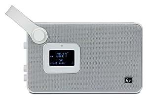 kitsound air audio dab fm bluetooth radio alarm clock speaker with snooze and. Black Bedroom Furniture Sets. Home Design Ideas