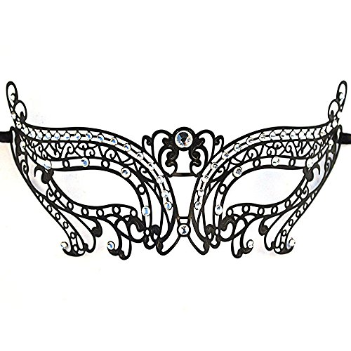 CIShop Sparkling Laser Cut Metal Venetian Masquerade Mask for Halloween Cosplay
