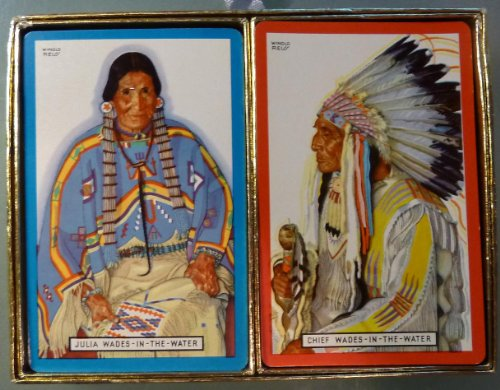 "Vintage - Great Northern Railway - Vintage Playing Cards - Two Decks: ""Julia Wades-In-Water"" and ""Chief Wades-In-Water"" - 1"