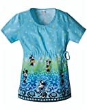 Cherokee Minnie Meadow Round Neck Scrub Top