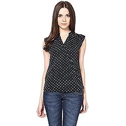 Harpa Women's Body Blouse Shirt (GR2284-Black_Medium)