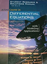 A First Course in Differential Equations with Modeling Applications by Dennis G. Zill