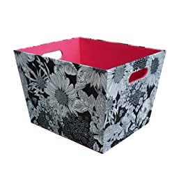 Product Image Liberty Large Tapered Bin Black Floral