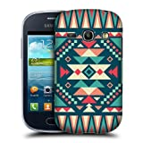Head Case Designs Ice and Fire Geometric Tribal Patterns Protective Snap-on Hard Back Case Cover for Samsung Galaxy Fame S6810