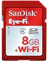 SanDisk Eye-Fi Scheda di Memoria SD Wireless, 08 GB, Classe 4