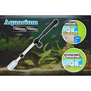 2-in-1 Auto Siphon Vacuum Water Pump Gravel Cleaner Fish Tank Aquarium Filter