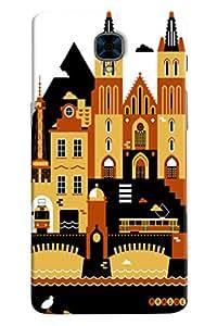 Omnam City Building Printed Designer Back Cover Case For OnePlus Three