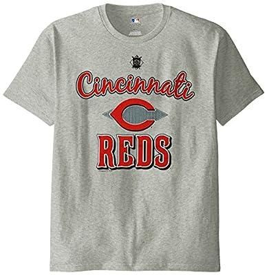 MLB Cincinnati Reds Men's 58T Tee, Steel Heather, Large