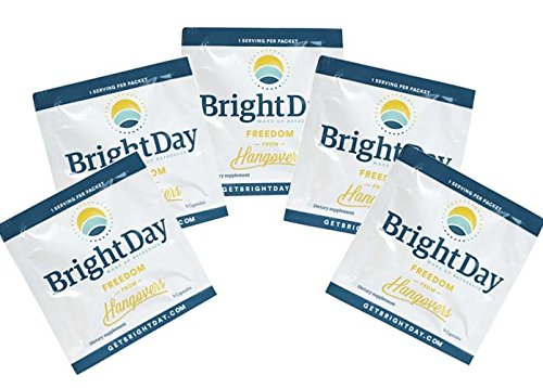 BrightDay Hangover Prevention Pills (5-Pack Sample Packets) (5)