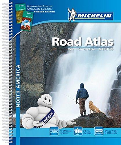 Road Atlas North America - USA, Canada, Mexico . A4 Spirale (Atlas de carreteras Michelin)