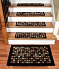 Dean Premium Carpet Stair Treads - Block Party 30