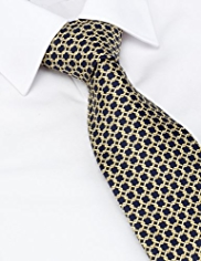 Sartorial Made in Italy Pure Silk Geometric Link Print Tie