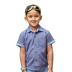 Snowflakes Boys' 3-4 Years Blue Checked Shirt