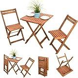 3-tlg-Bistroset-Balkonset-Balkonmbel-Gartenstuhl-Holz-Gartenmbel-Terassen-Set-Akazie-gelt-2x-Klappstuhl-1x-Klapptisch