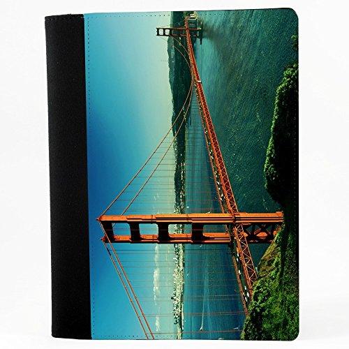 Citt 10020, Stati Uniti D'America, Nero Polyester Cartella Congressi block notes Taccuino con Fronte di Sublimazione e alta qualità Design Colorato.Dimensioni 230 x 180 mm.