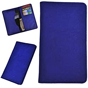 DCR Pu Leather case cover for Micromax Canvas A74 (blue)