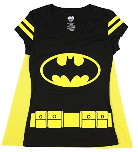 DC Comics Women's Batman Costume T-Shirt with Cape