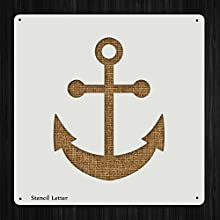 Anchor Nautical Style 1162  DIY Plastic Stencil Acrylic Mylar Reusable